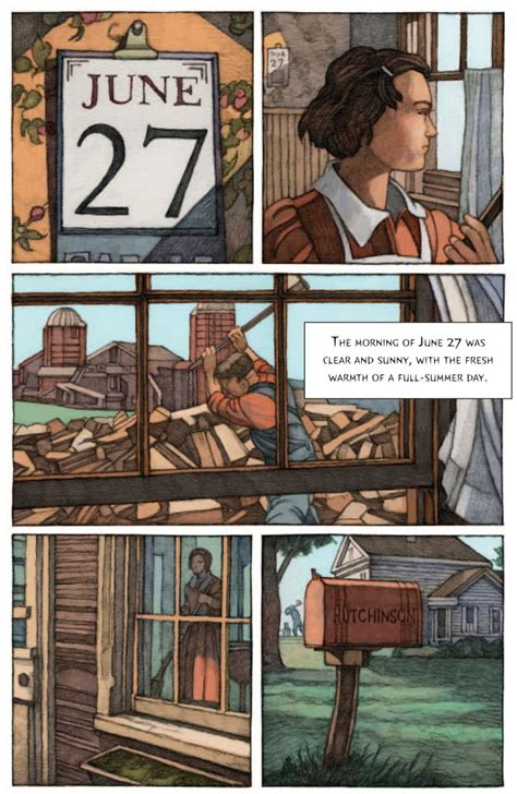 Artblog   Miles Hyman's graphic adaptation of The Lottery